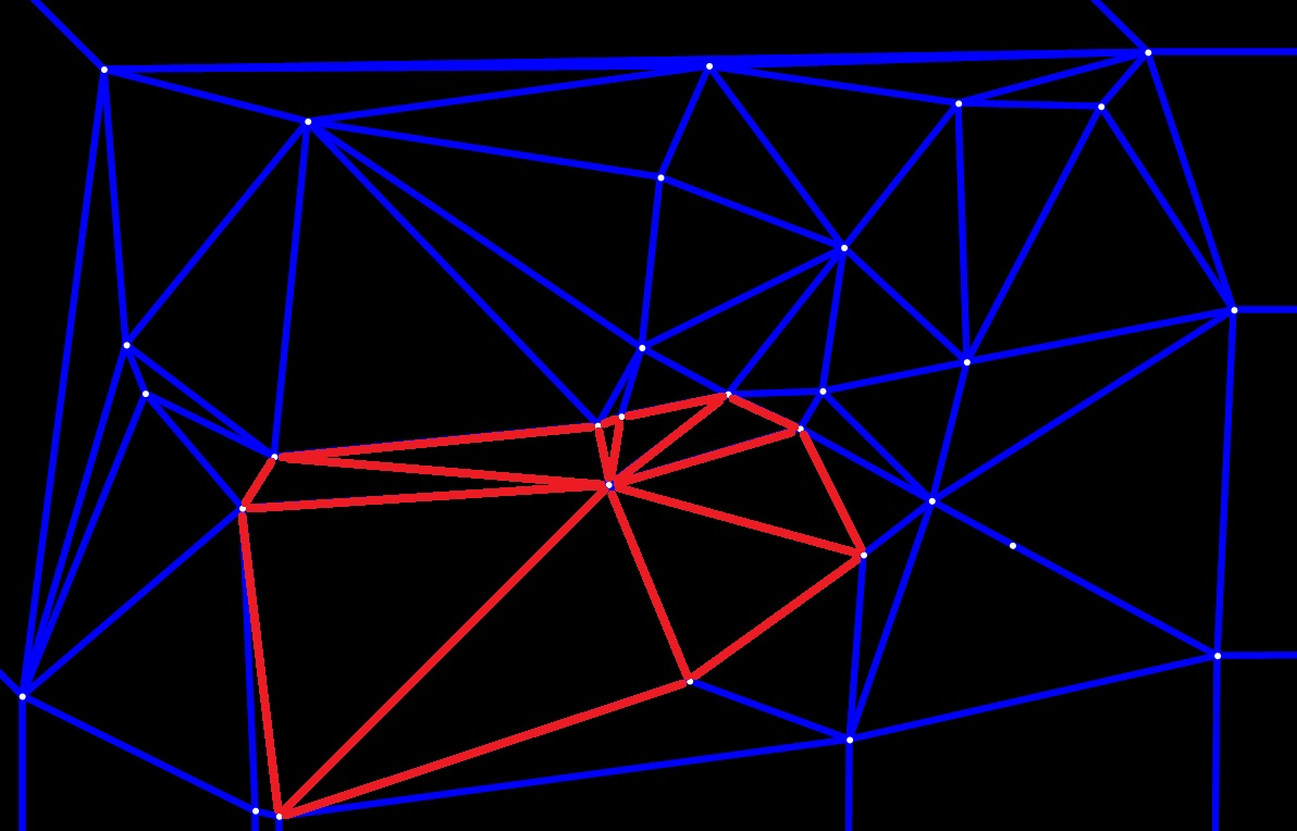 Implementation of Voronoi Diagram and Delaunay Triangulation figure 2